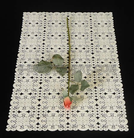 Freestanding Battenberg Lace table runner