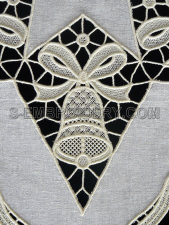 Christmas bell freestanding lace machine embroidery design