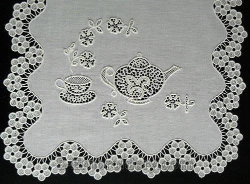 Teatime machine embroidery freestanding lace set