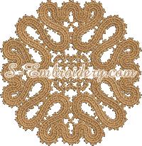 Battenburg lace doily machine embroidery design
