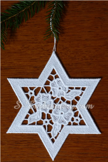 Christmas ornament - free standing lace star