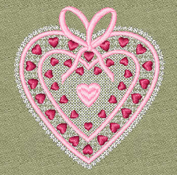 10083 Valentine heart machine embroidery