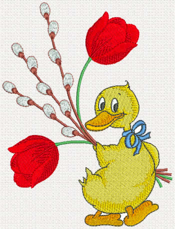 10218 Ducky machine embroidery