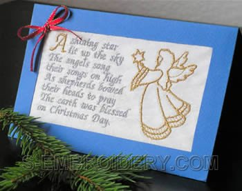 10295 Christmas Greeting Card embroidery decoration