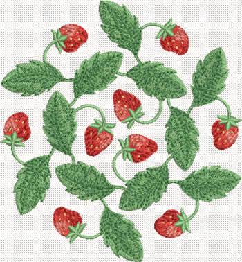 10351 Strawberry machine embroidery No7