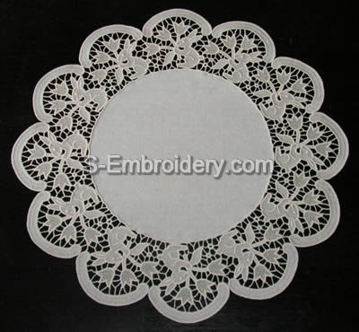 10397 Easter free standing lace doily
