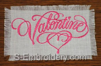 10399 Valentine machine embroidery set No2