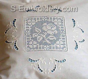 10414 Free standing lace crochet and cutwork