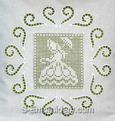 10437 Girl crochet square embroidery set
