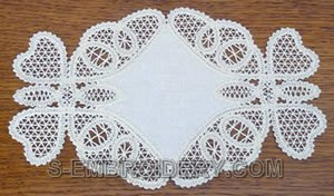 10444 Butterfly Battenberg lace doily