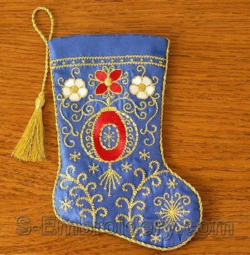 10531 Christmas stocking machine embroidery design