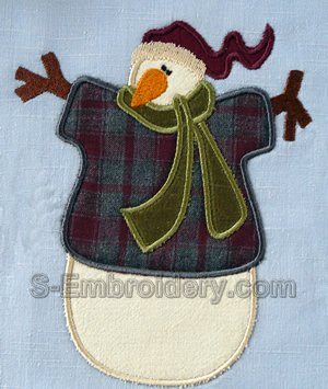 10532 Snowman applique embroidery set