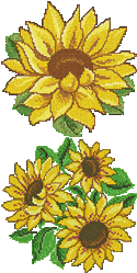 10071 Cross stitch sunflower embroidery set