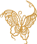 10105 Butterfly machine embroidery