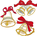 10186 Christmas bells applique set