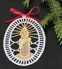 10291 Christmas free standing lace ornaments