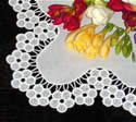 10338 Free standing lace blossom table runner