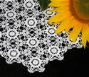 10374 Free standing lace crochet doily