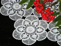 Freestanding crochet lace machine embroidery