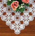 10380 Free standing lace crochet doily No5
