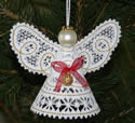 3D Christmas angel lace ornament