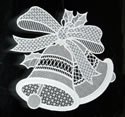 10452 Christmas bells free standing lace window decoration
