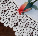10460 Battenberg lace doily machine embroidery