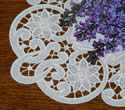 10469 Floral free standing lace doily