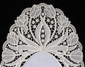 10511 Free standing lace tulip doily set