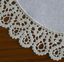 10513 Battenberg lace doily machine embroidery