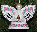 10522 Battenberg lace Christmas angel ornament