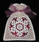 10529 Battenberg lace Christmas gift bag