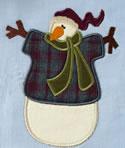 10532 Snowman applique embroidery set
