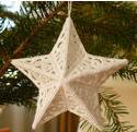 10560 3D free standing lace star Christmas ornament