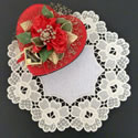 10602 Floral free standing lace doily machine embroidery
