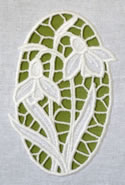 10605 Snowdrops cutwork lace machine embroidery set