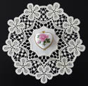 10612 Battenburg lace doily machine embroidery