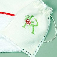 Cross stitch monogram letter machine embroidery