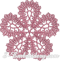 Free Battenburg lace machine embroidery design