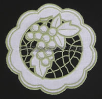 Grape cutwork lace - free machine embroidery design