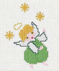 Angel Embroidery Design - Cross Stitch