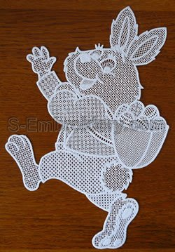 Easter bunny freestanding lace