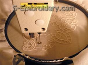Stitch out the freestanding lace