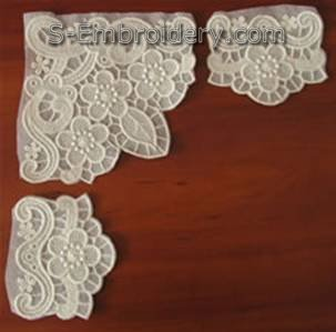 Cut away excess stabilizer