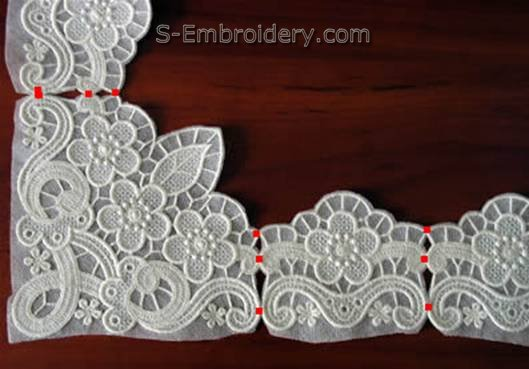 Put lace pieces together